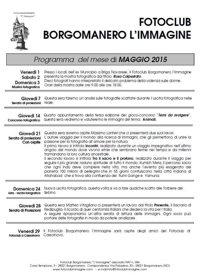 Programma Maggio 2015