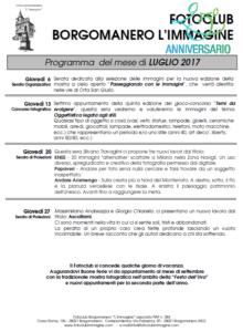 Programma Luglio 2017 Fotoclub Borgomanero l'Immagine